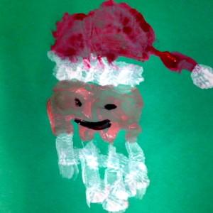 Handprint Santa by Elementary Student