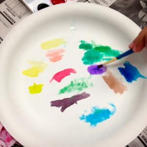 Watercolors And Brushwork