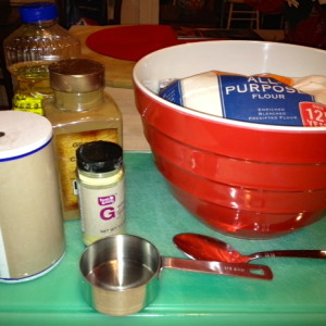 Use flour, salt, oil, water, cinnamon and ginger to make Gingerbread Play Dough.
