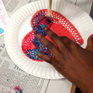 Painting the Doily
