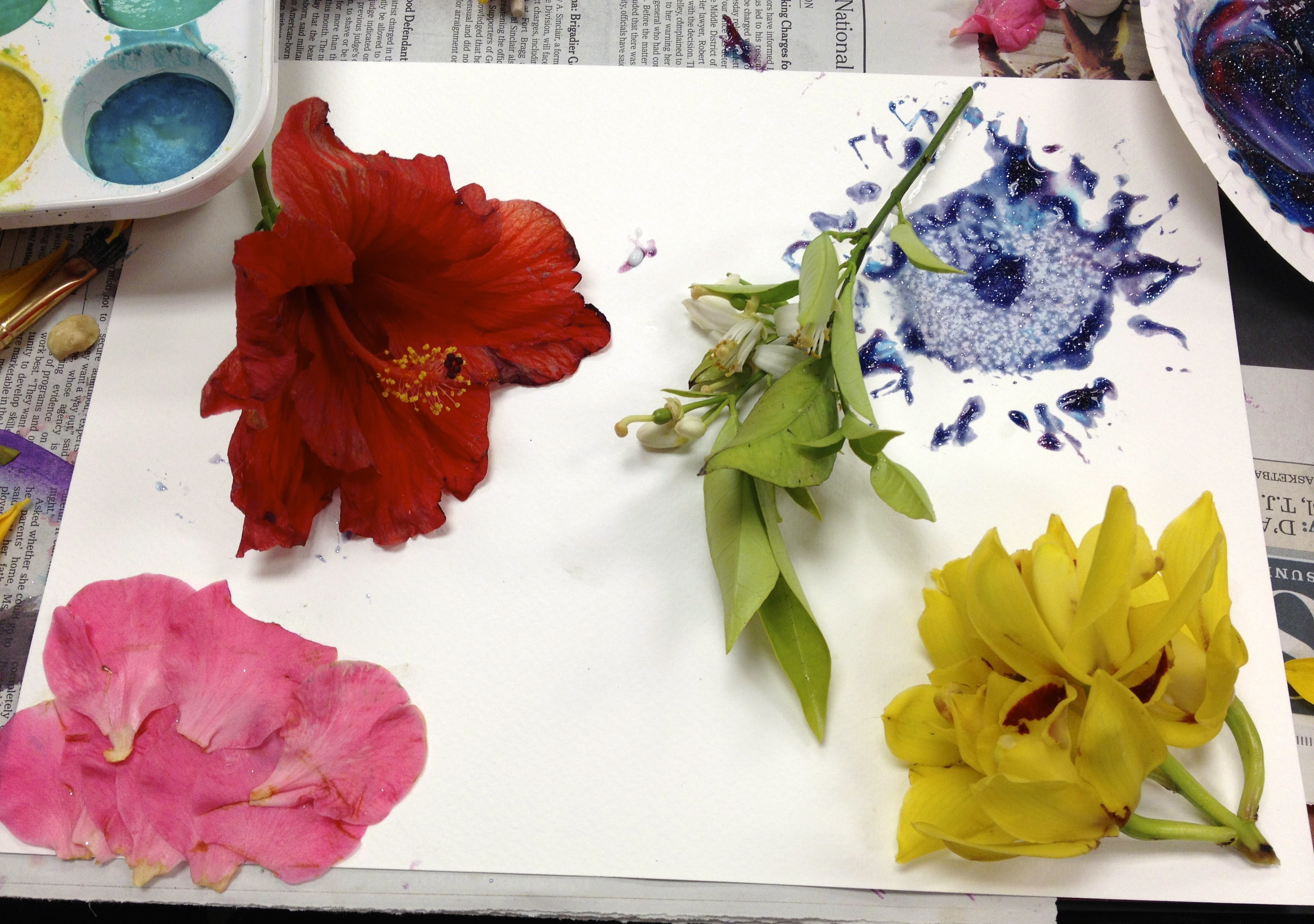 painting real flowers flower inspiration