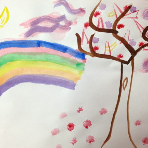 Watercolor Rainbow by an Adult