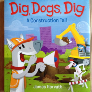 Dogs and their  digging vehicles work.