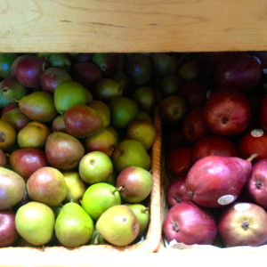 Tiny Pears and Red Pears