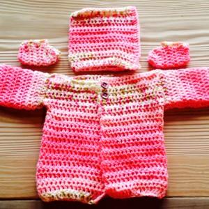 Bright Pink Sweater Set