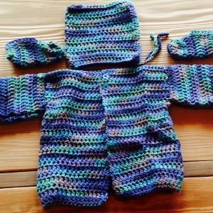 Booties, Hat and Sweater