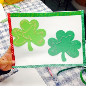 Decorated Shamrocks and Ribbons