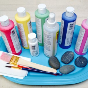 Non-toxic Art Supplies & Rocks