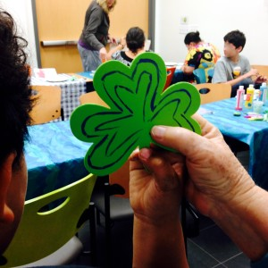 Son Holding Mom's Shamrock