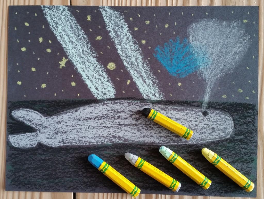 Oil Pastels on Black Paper for Older Kids
