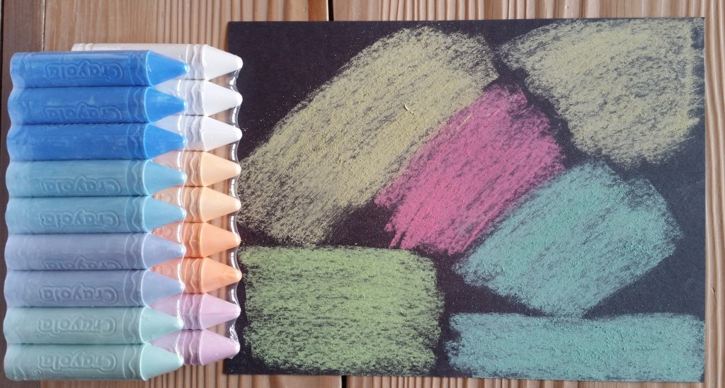 Crayola Sidewalk Chalk Works on Paper
