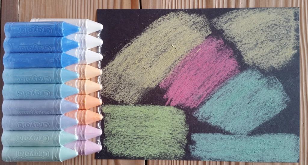 Crayola Sidewalk Chalk Works on Paper