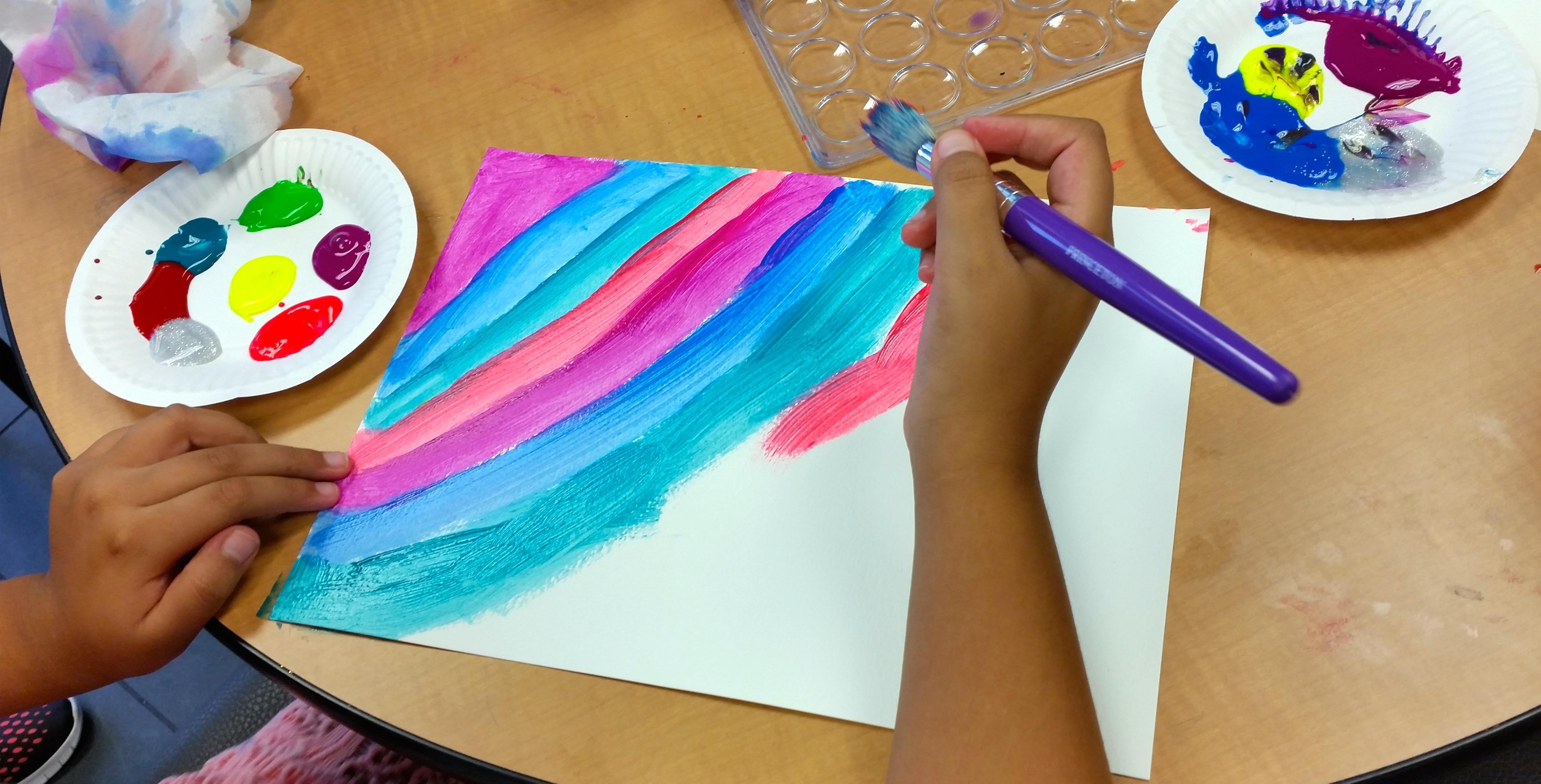 Exploring the rainbow fish through art