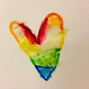 Rainbow Heart ~ Corazón de arco iris