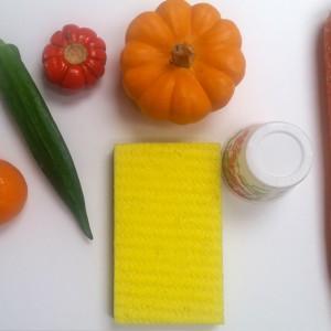 New Sponge, Paper Cup & Veggies