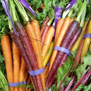 Rainbow Carrots ~ Zanahorias del arco iris