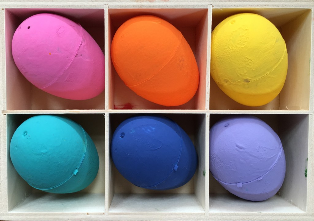 2 Plastic Painted Eggs