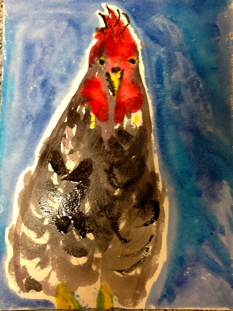 Portrait of a Chicken by Maureen