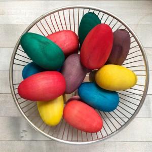 Wood Eggs ~ Huevos de madera