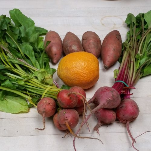 Beets and Yams ~  14/5000 Remolachas y camotes