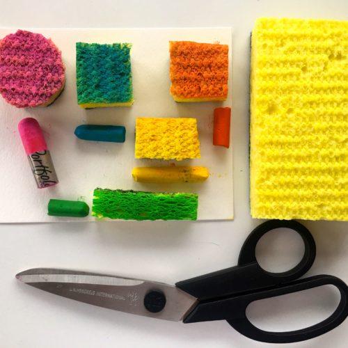 Cut Sponges for Stamp Art