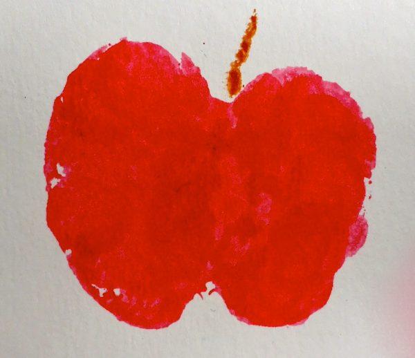 Apple Print  Impresión de una manzana