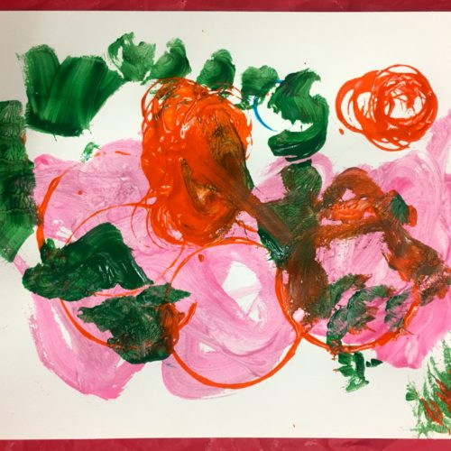Three-Year-Old's Blossom and Circle Art