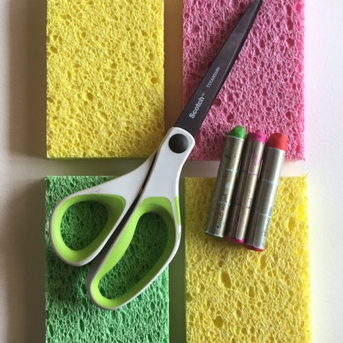 Sponges, Scissors and Water Pastels