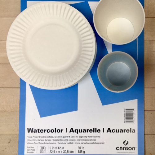 Watercolor Paper, Paper Plates, Paper Cups