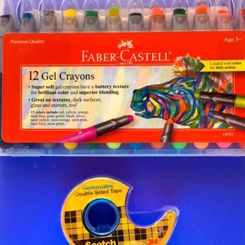 Tape and Gel Crayons