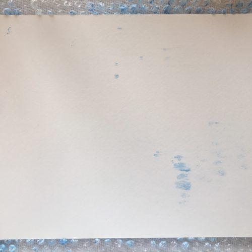 Watercolor Paper on Painting ~ Papel encima de pintura